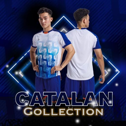 Áo bóng đá không logo thiết kế Just Play - CATALAN màu trắng