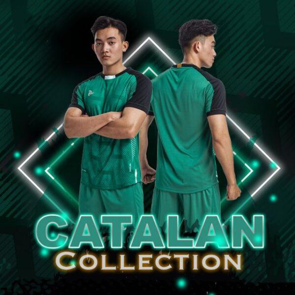 Áo bóng đá không logo thiết kế Just Play - CATALAN màu xanh lý