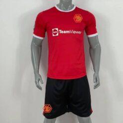 Quần áo bóng đá CLB M-U màu Đỏ mùa giải 21-22