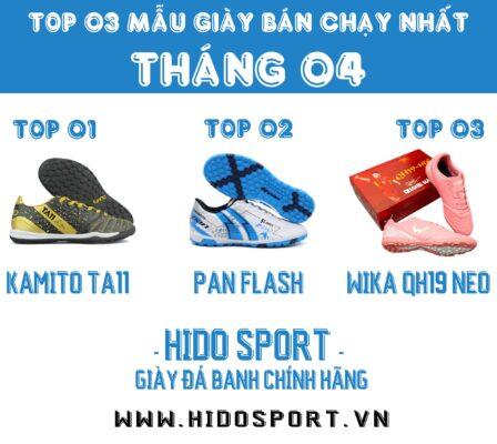 Top 3 mẫu giày đá banh chính hãng bán chạy nhất tháng 04-2021 tại Hido Sport