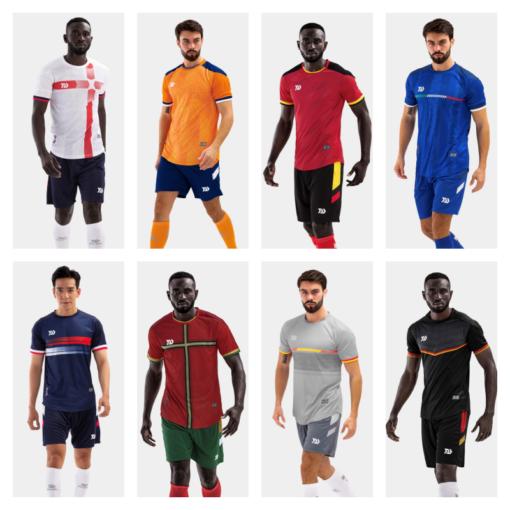 Áo bóng đá không logo Bul Bal - EURO 2021 vải mè cao cấp 8 màu