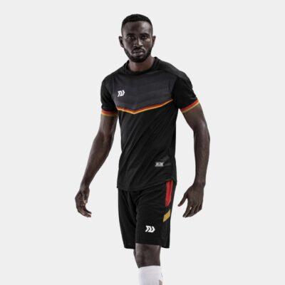 Bộ quần áo bóng đá Euro Đức Đen