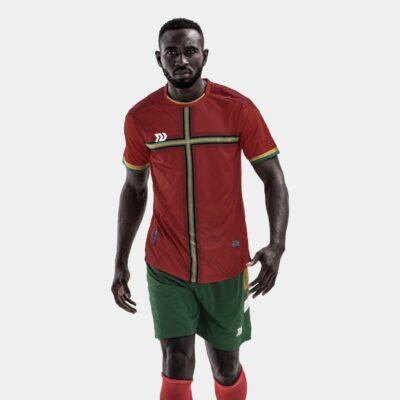 Bộ quần áo bóng đá Euro Bồ Đào Nha Đỏ đô