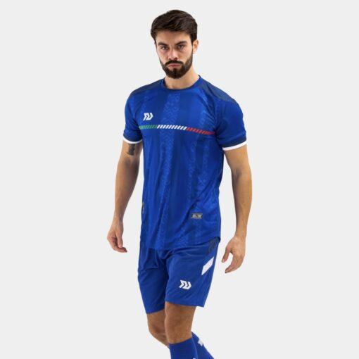 Bộ quần áo bóng đá Euro Ý Xanh Bích
