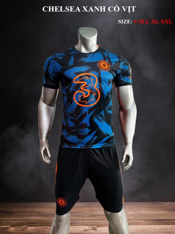 Quần áo bóng đá CLB Chelsea màu Xanh cổ vịt mùa giải 21-22