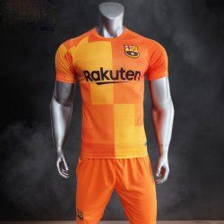 Quần áo bóng đá CLB Bacerlona màu Cam mùa giải 21-22
