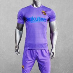 Quần áo bóng đá CLB Bacerlona màu Tím mùa giải 21-22