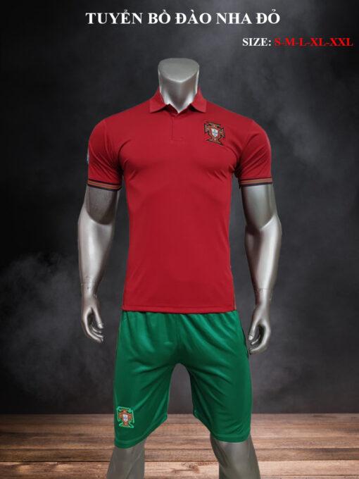 Quần áo bóng đá Đội tuyển Bồ Đào Nha màu Đỏ 21-22