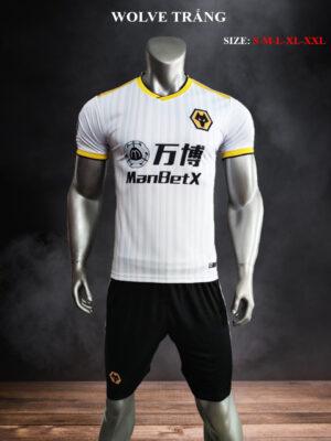 Quần áo bóng đá CLB WOLVE màu Trắng mùa giải 21-22