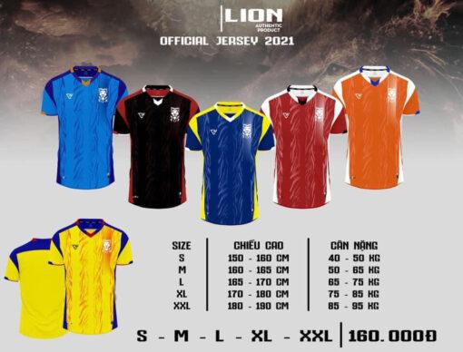 Quần áo bóng đá không logo VH - LION 2021 vải mè cao cấp 6 màu
