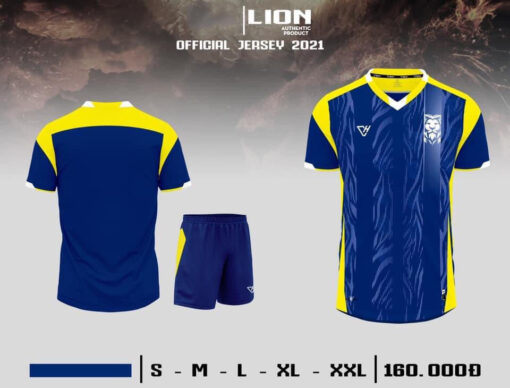 Quần áo bóng đá không logo VH - LION màu Xanh BÍch