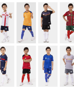 Áo bóng đá trẻ em không logo Bul Bal - EURO 2021 vải mè cao cấp 8 màu