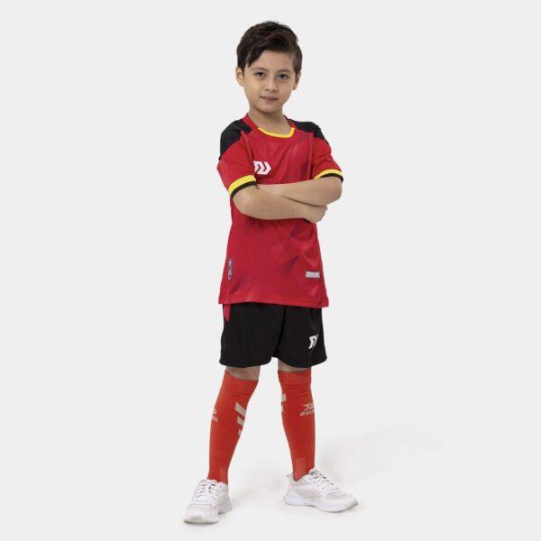 Bộ quần áo bóng đá trẻ em Euro Bỉ Đỏ