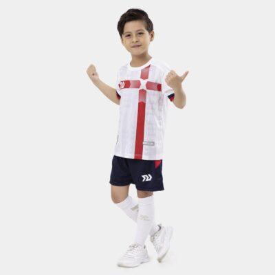 Bộ quần áo bóng trẻ em đá Euro Anh Trắng