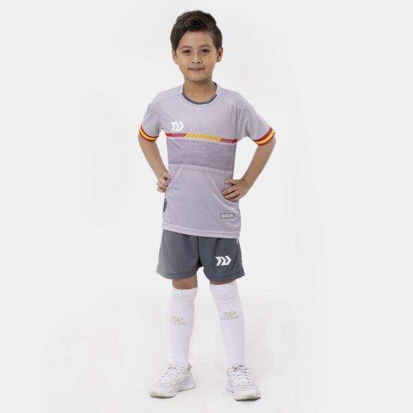 Bộ quần áo bóng đá trẻ em Euro Tây Ban Nha Xám