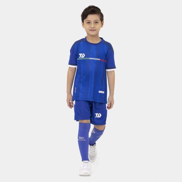 Bộ quần áo bóng đá trẻ em Ý Xanh Bích