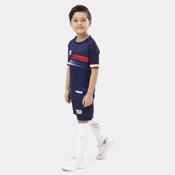 Bộ quần áo bóng đá trẻ em Euro Ý Xanh Bích