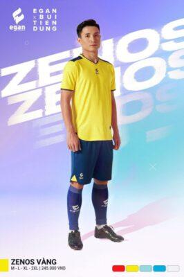 Áo bóng đá không logo thiết kế cao cấp Egan ZENOS màu Vàng