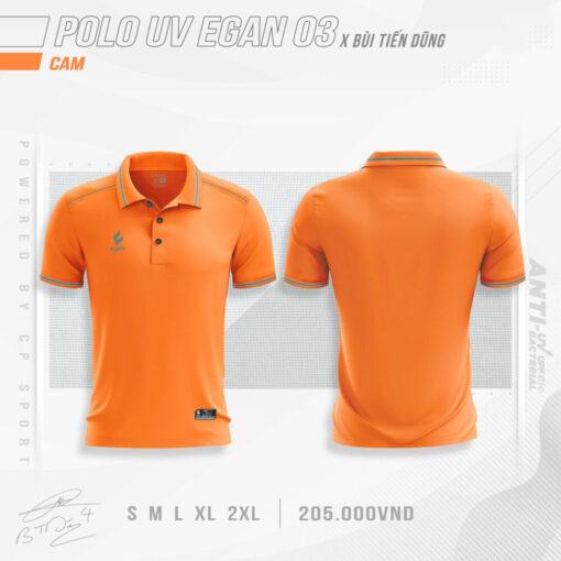 Áo POLO UV EGAN 3 vải mè cao cấp màu cam