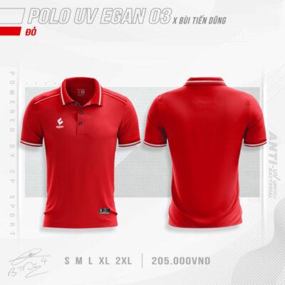 Áo POLO UV EGAN 3 vải mè cao cấp màu đỏ
