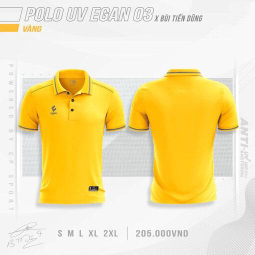 Áo POLO UV EGAN 3 vải mè cao cấp màu vàng