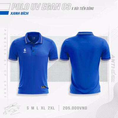 Áo POLO UV EGAN 3 vải mè cao cấp màu xanh bích