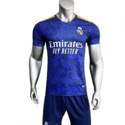 Áo Real Madrid sân khách màu Xanh 2021-2022