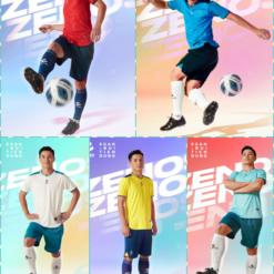 Áo bóng đá không logo Egan ZENOS vải mè cao cấp 5 màu