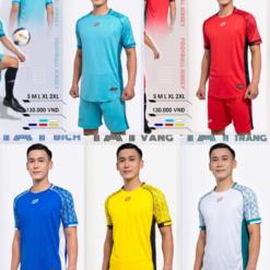 Áo bóng đá không logo CP FIAT thun lạnh 5 màu