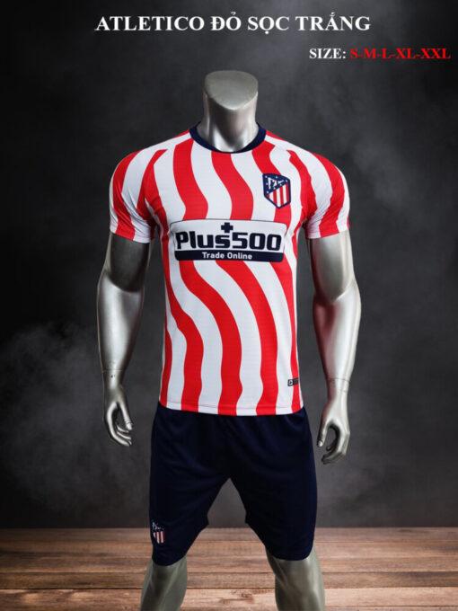 Quần áo bóng đá CLB Atletico màu Đỏ sọc Trắng 21-22