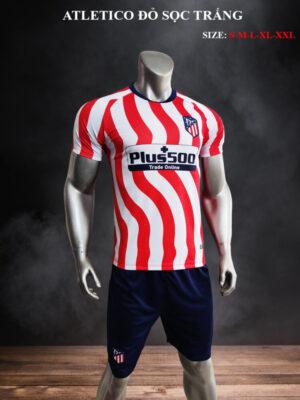 Quần áo bóng đá CLB Atletico màu Đỏ sọc Trắng 21-22 mặt nghiêng