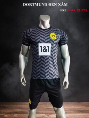 Quần áo bóng đá Dortmund màu Đen Xám 21-22
