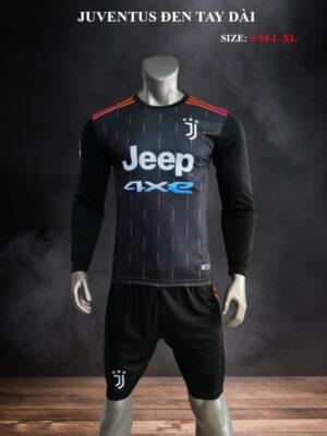 Quần áo bóng đá tay dài CLB Juventus màu Đen mùa giải 21-22