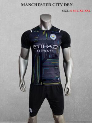 Quần áo bóng đá Man City màu Đen 21-22