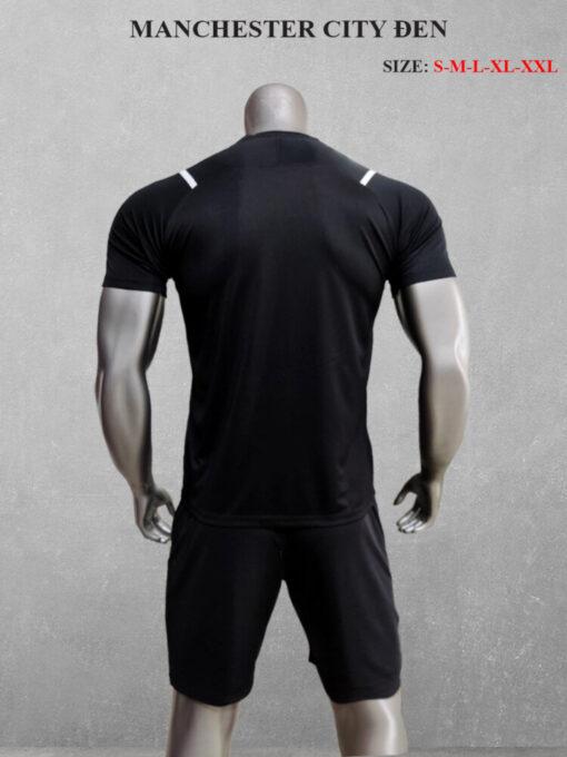 Quần áo bóng đá Man City màu Đen 21-22 mặt lưng