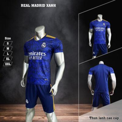Quần áo bóng đá Real Madrid màu Xanh 21-22 baner