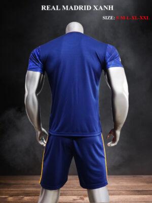 Quần áo bóng đá Real Madrid màu Xanh 21-22 mặt lưng