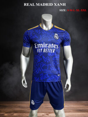 Quần áo bóng đá Real Madrid màu Xanh 21-22