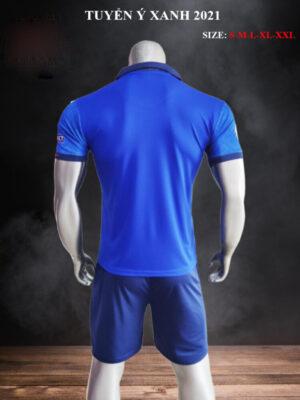 Quần áo bóng đá Đội tuyển Ý màu Xanh bích 21-22 mặt lưng