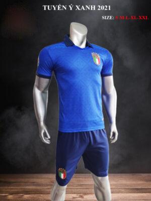 Quần áo bóng đá Đội tuyển Ý màu Xanh bích 21-22 mặt nghiêng