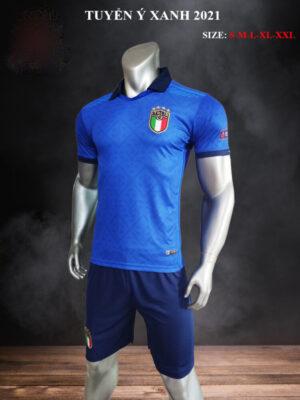 Quần áo bóng đá Đội tuyển Ý màu Xanh bích 21-22 nghiêng
