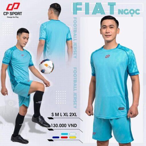 Áo bóng đá không logo thiết kế CP FIAT màu Xanh ngọc