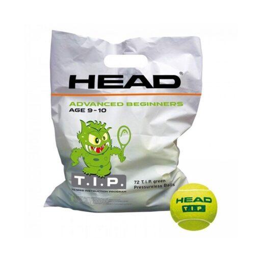Bóng tennis trẻ em HEAD T.I.P Green (Túi 72 quả)