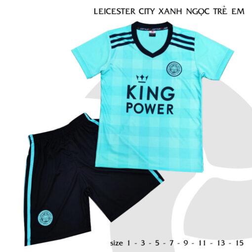 Quần áo bóng đá Trẻ Em CLB Leicester City màu Xanh ngọc 21-22