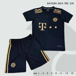 Quần áo bóng đá Trẻ Em CLB Bayern Munich màu Đen 21-22