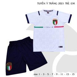 Quần áo bóng đá Trẻ Em Đội tuyển Ý màu Trắng 21-22