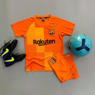 Quần áo bóng đá Trẻ Em CLB BARCELONA màu Cam 21-22