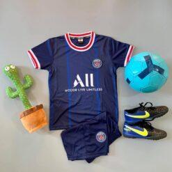 Quần áo bóng đá Trẻ Em CLB PSG màu Xanh Đen 21-22
