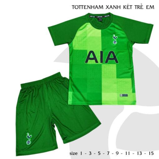 Quần áo bóng đá Trẻ Em CLB TOTTENHAM màu Xanh két 21-22