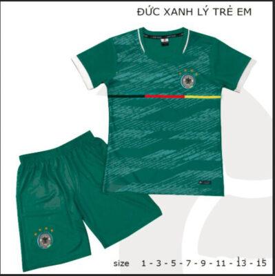 Quần áo bóng đá Trẻ Em Đội tuyển Đức màu Xanh Lý 21-22